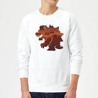Nintendo Super Mario Bowser Silhouette Sweatshirt - White - XL - White