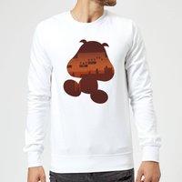 Nintendo Super Mario Goomba Silhouette Sweatshirt - White - S - White