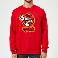 Nintendo Super Mario Mario Kanji Sweatshirt - Red - XXL - Red