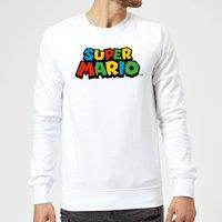 Nintendo Super Mario Colour Logo Sweatshirt - White - XXL - White
