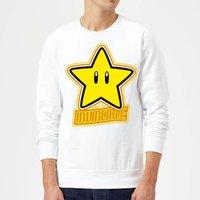 Nintendo Super Mario Invincible Sweatshirt - White - L - White