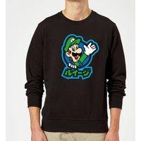 Nintendo Super Mario Luigi Kanji Sweatshirt - Black - XL - Black