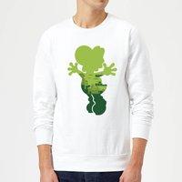 Nintendo Super Mario Yoshi Silhouette Sweatshirt - White - XXL - White