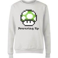 Nintendo Super Mario Powering Up Women's Sweatshirt - White - XXL - White