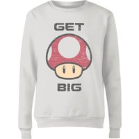 Nintendo Super Mario Get Big Mushroom Women's Sweatshirt - White - L - White