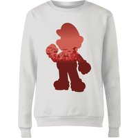 Nintendo Super Mario Mario Silhouette Women's Sweatshirt - White - S - White
