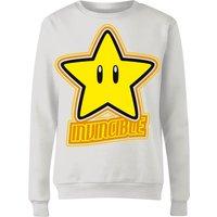 Nintendo Super Mario Invincible Women's Sweatshirt - White - S - White