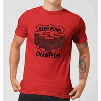 Beershield Beer Pong Champion T-Shirt - Red - XXL - Red - Beer Gifts
