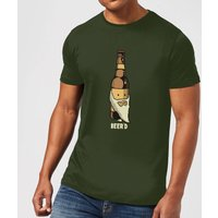 Beershield Beerd T-Shirt - Forest Green - XXL - Forest Green - Alcohol Gifts