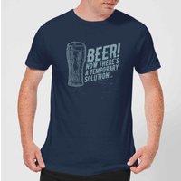 Beershield Beer Temporary Solution T-Shirt - Navy - XS - Navy