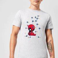 Marvel Deadpool Cartoon Knockout T-Shirt - Grey - M - Grey