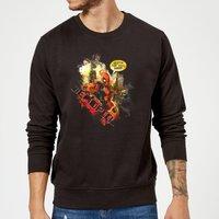 Marvel Deadpool Outta The Way Nerd Sweatshirt - Black - XL - Black