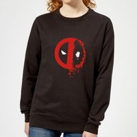 Marvel Deadpool Split Splat Logo Women's Sweatshirt - Black - M - Black