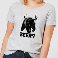 Beershield Beer Bear Deer Women's T-Shirt - Grey - XXL - Grey - Beer Gifts