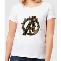 Marvel Avengers Infinity War Avengers Logo Women's T-Shirt - White - 3XL