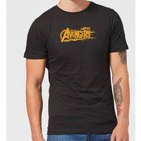 Marvel Avengers Infinity War Orange Logo T-Shirt - Black - S - Black