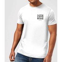 Live Love Ride T-Shirt - White - M - White