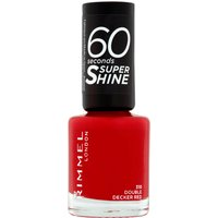 Rimmel 60 Seconds Super Shine Nail Polish 8ml (Various Shades) - Double Decker Red