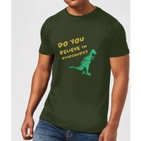 Do You Believe In Dinosaurs? T-Shirt - Forest Green - XS - Forest Green