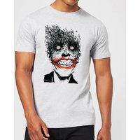 Batman Joker Face Of Bats T-Shirt - Grau - 3XL - Grau