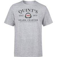 Jaws Quint's Shark Charter T-Shirt - Grey - 5XL - Grey