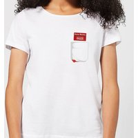 Shaun Of The Dead You've Got Red On You Pocket Women's T-Shirt - White - L