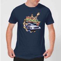 Back To The Future Clockwork T-Shirt - Navy - XS