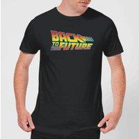 Back To The Future Classic Logo T-Shirt - Black - XL - Black