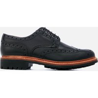 Grenson Men's Archie Leather Commando Sole Brogues - Black - UK 8 - Black