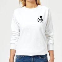 Yes Ring Women's Sweatshirt - White - M - White