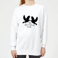 Two Love Doves To Be Women's Sweatshirt - White - M - White