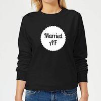 Married AF Women's Sweatshirt - Black - S - Black