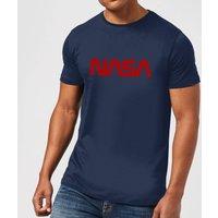 NASA Worm Red Logotype T-Shirt - Navy - XS - Navy
