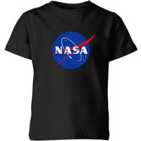 NASA Logo Insignia Kids' T-Shirt - Black - 7-8 Years - Black
