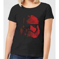 Star Wars Jedi Cubist Trooper Helmet Black Women's T-Shirt - Black - XL - Black