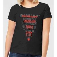 Star Wars Dark Side Echo Black Women's T-Shirt - Black - S - Black