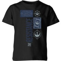 Star Wars The Resistance Black Kids' T-Shirt - Black - 7-8 Years - Black