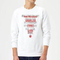 Star Wars Dark Side Echo White Sweatshirt - White - XXL - White