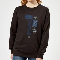 Star Wars The Resistance Black Women's Sweatshirt - Black - XXL - Black
