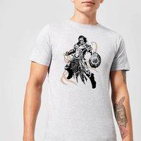 Magic The Gathering Gideon Character Art T-Shirt - Grey - 5XL