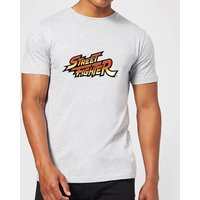 Street Fighter Logo Mens T-Shirt - Grey - 3XL
