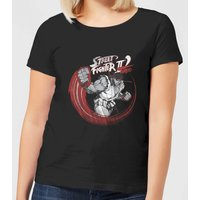 Street Fighter RYU Sketch Women's T-Shirt - Black - 4XL - Black