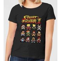 Street Fighter 2 Pixel Characters Women's T-Shirt - Black - 4XL - Black