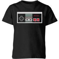 T-Shirt Nintendo NES Controller Chest - Nero - Bambini - 11-12 Anni - Nero