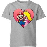 Nintendo Super Mario Peach Kiss Kids' T-Shirt - Grey - 5-6 Years