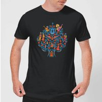 Coco Tree Pattern Men's T-Shirt - Black - M - Black