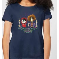 Coco Miguel And Hector Women's T-Shirt - Navy - XL - Navy