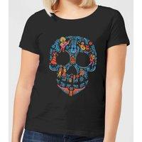 Coco Skull Pattern Women's T-Shirt - Black - S - Black
