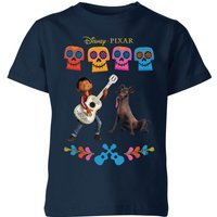 Coco Miguel Logo Kids' T-Shirt - Navy - 5-6 Years