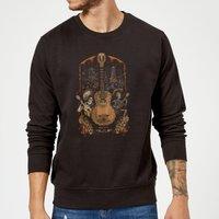 Coco Guitar Poster Sweatshirt - Black - L - Black - Music Gifts
